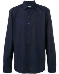 Мужская темно-синяя классическая рубашка от Versace Collection