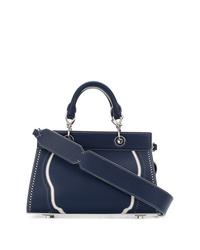 Темно-синяя кожаная большая сумка от Altuzarra
