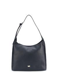 Темно-синяя кожаная большая сумка от MICHAEL Michael Kors