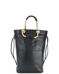 Темно-синяя кожаная большая сумка от Ports 1961