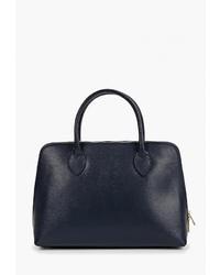 Темно-синяя кожаная большая сумка от Roberta Rossi