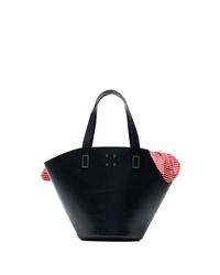 Темно-синяя кожаная большая сумка от Trademark