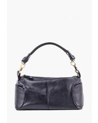 Темно-синяя кожаная большая сумка от