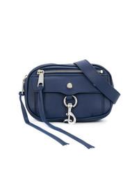 Темно-синяя кожаная поясная сумка от Rebecca Minkoff