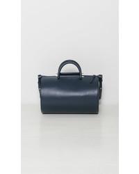 Женская темно-синяя кожаная спортивная сумка от Building Block
