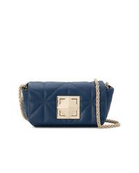 Женская темно-синяя кожаная стеганая сумка через плечо от Sonia Rykiel