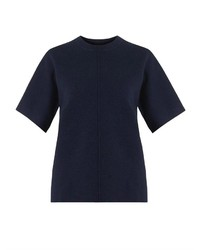 Темно-синяя кофта с коротким рукавом