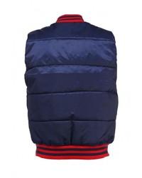 Мужская темно-синяя куртка без рукавов с принтом от Atributika & Club™