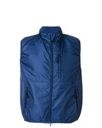 Мужская темно-синяя куртка без рукавов от Aspesi