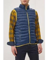 Мужская темно-синяя куртка без рукавов от BLEND
