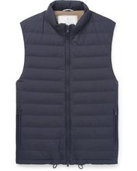 Мужская темно-синяя куртка без рукавов от Brunello Cucinelli