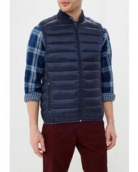 Мужская темно-синяя куртка без рукавов от Celio