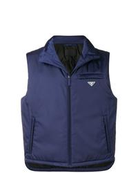 Мужская темно-синяя куртка без рукавов от Prada