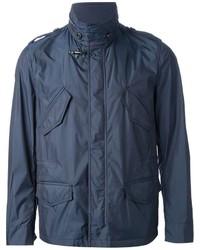 Темно-синяя куртка в стиле милитари