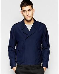 Мужская темно-синяя куртка в стиле милитари от Asos