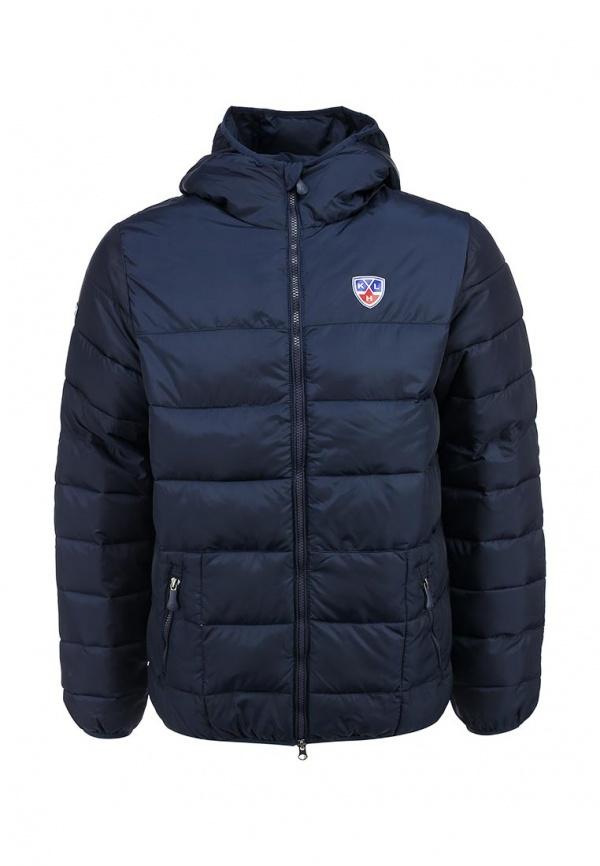 Мужская темно-синяя куртка-пуховик с принтом от Atributika & Club™