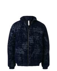 Мужская темно-синяя куртка-пуховик с принтом от Cottweiler