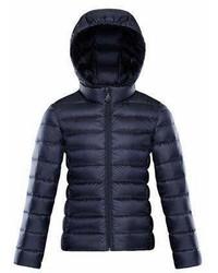 Темно-синяя куртка-пуховик