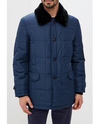 Мужская темно-синяя куртка-пуховик от Absolutex