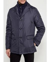 Мужская темно-синяя куртка-пуховик от Bazioni