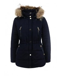 Женская темно-синяя куртка-пуховик от By Swan