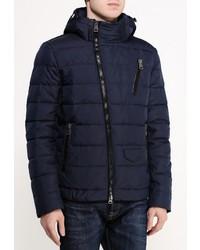 Мужская темно-синяя куртка-пуховик от Clasna
