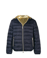 Мужская темно-синяя куртка-пуховик от Emporio Armani