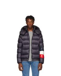 Мужская темно-синяя куртка-пуховик от Moncler