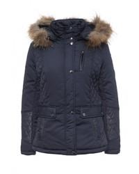 Женская темно-синяя куртка-пуховик от Softy