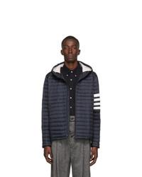 Мужская темно-синяя куртка-пуховик от Thom Browne