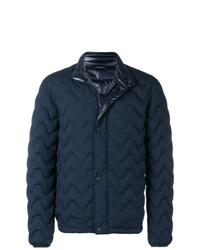 Мужская темно-синяя куртка-пуховик от Z Zegna