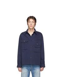 Мужская темно-синяя куртка-рубашка от Acne Studios