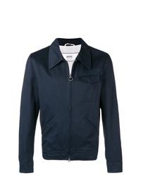 Мужская темно-синяя куртка-рубашка от AMI Alexandre Mattiussi