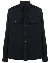 Мужская темно-синяя куртка-рубашка от Ami Paris