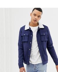 Мужская темно-синяя куртка-рубашка от Another Influence