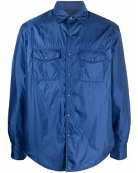 Мужская темно-синяя куртка-рубашка от Aspesi