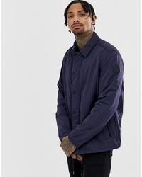 Мужская темно-синяя куртка-рубашка от BOSS