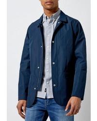 Мужская темно-синяя куртка-рубашка от Burton Menswear London
