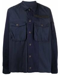 Мужская темно-синяя куртка-рубашка от Diesel