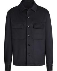Мужская темно-синяя куртка-рубашка от Ermenegildo Zegna