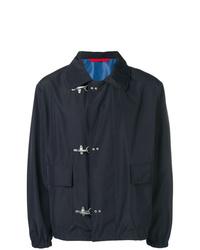 Мужская темно-синяя куртка-рубашка от Fay