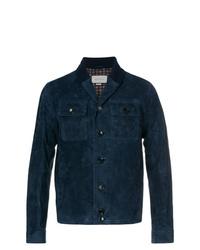 Мужская темно-синяя куртка-рубашка от Gucci