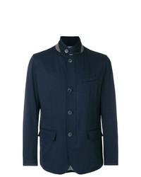 Мужская темно-синяя куртка-рубашка от Herno