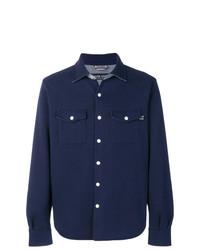 Мужская темно-синяя куртка-рубашка от Jacob Cohen