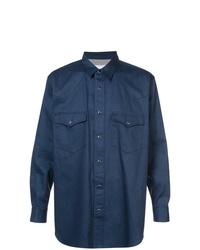 Мужская темно-синяя куртка-рубашка от Julien David