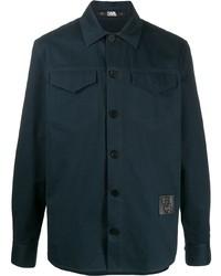 Мужская темно-синяя куртка-рубашка от Karl Lagerfeld