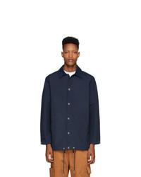 Мужская темно-синяя куртка-рубашка от Kenzo