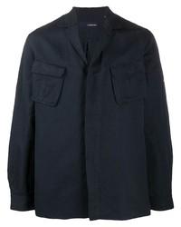 Мужская темно-синяя куртка-рубашка от Lardini
