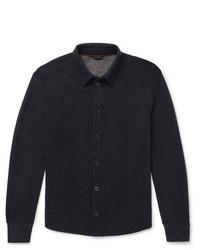 Мужская темно-синяя куртка-рубашка от Loro Piana