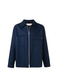 Мужская темно-синяя куртка-рубашка от Marni